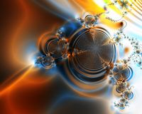 абстрактные свирли померанца предпосылки Стоковая Фотография RF