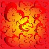 абстрактные сделанные сердца предпосылки бесплатная иллюстрация