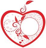 абстрактные сердца рамки Стоковое Изображение RF