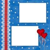абстрактные сердца сини предпосылки ard Стоковые Фотографии RF