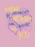 абстрактные сердца Стоковая Фотография RF