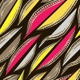 Абстрактные серые, желтые и малиновые лепестки с рамкой золота с диамантами бесплатная иллюстрация