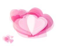 Абстрактные сердца. Стоковая Фотография