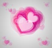 абстрактные сердца Стоковое Изображение RF