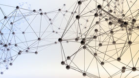Абстрактные сети 3D иллюстрация штока