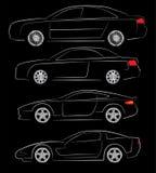 Абстрактные силуэты автомобиля бесплатная иллюстрация