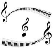 абстрактные символы музыки Стоковые Изображения