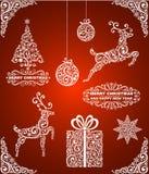 Абстрактные символы рождества Стоковые Фото