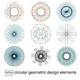 Абстрактные симметричные геометрические элементы Стоковые Фото