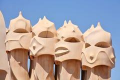 абстрактные скульптуры крыши mil pedrera la h Стоковые Фото