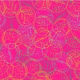 Абстрактные смелое и красочный waterlily или картина вектора листьев цветка лотоса безшовная в линии стиле искусства нарисованном иллюстрация штока
