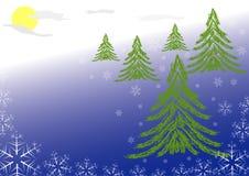 абстрактные снежинки предпосылки Стоковое Изображение