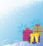абстрактные снежинки предпосылки Стоковое Фото
