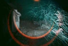 абстрактные снежности Первый снег упал на ночу Стоковое Изображение