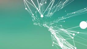Абстрактные соединения двигая в космос Белые соединенные точки бесплатная иллюстрация