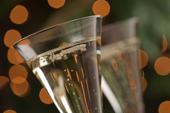 абстрактные стекла шампанского Стоковые Фотографии RF