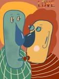Абстрактные стороны, абстрактная любовь стоковые изображения rf
