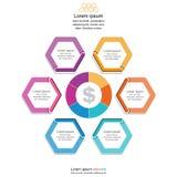 Абстрактные стрелки круга для infographic, концепция infographic, иллюстрация дела вектора Стоковые Изображения