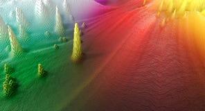 абстрактные сделанные кубики предпосылки Стоковая Фотография