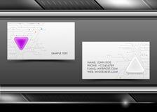 Абстрактные творческие визитные карточки вектора иллюстрация штока