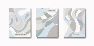 Абстрактные творческие шаблоны, карточки, установленные крышки цвета корпоративно бесплатная иллюстрация