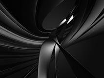 Абстрактные темные металлические кривые предпосылка промышленная иллюстрация штока