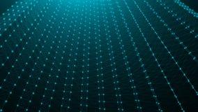 Абстрактные точки соединения технология планеты телефона земли бинарного Кода предпосылки вектор сети иллюстрации конструкции при Стоковые Фотографии RF