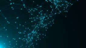 Абстрактные точки соединения технология планеты телефона земли бинарного Кода предпосылки вектор сети иллюстрации конструкции при Стоковое фото RF