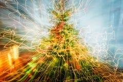 Абстрактные трассировки движений и цветов контраста запачканных светом Стоковые Изображения