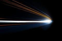 Абстрактные тропки света автомобиля стоковое фото