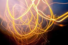 абстрактные тропки света Стоковые Изображения RF