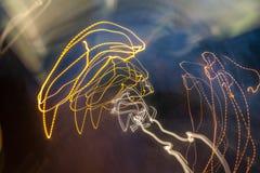 абстрактные тропки света Стоковое Изображение RF