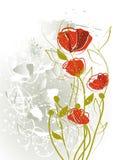 абстрактные тюльпаны конструкции Стоковое Изображение RF