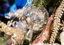 абстрактные украшения рождества Стоковая Фотография