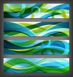 абстрактные установленные знамена предпосылок Стоковые Фотографии RF