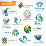 абстрактные установленные иконы бесплатная иллюстрация