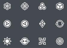 Абстрактные установленные иконы Стоковое Изображение RF
