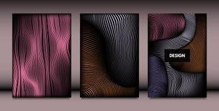 Абстрактные установленные шаблоны дизайна крышки бесплатная иллюстрация