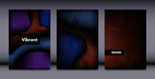 Абстрактные установленные шаблоны дизайна крышки иллюстрация штока