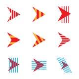 Абстрактные установленные значки логотипа компании стрелки Стоковое фото RF