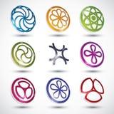абстрактные установленные иконы Стоковые Фотографии RF