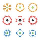 Абстрактные установленные логотипы значка цвета стрелки Стоковые Изображения RF