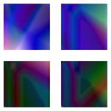 абстрактные установленные предпосылки Голографическое влияние Стоковые Изображения RF