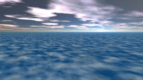 Абстрактные фантастические ландшафт, земля и небо