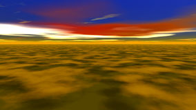Абстрактные фантастические ландшафт, земля и небо иллюстрация штока
