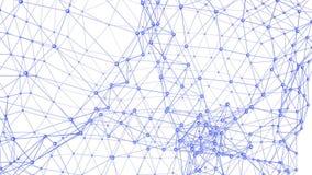 Абстрактные фиолетовые развевая решетка 3D или сетка пульсируя геометрических объектов Польза как абстрактная кристаллическая стр иллюстрация вектора