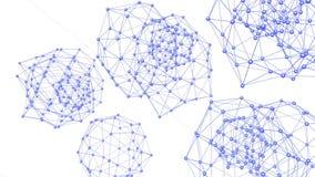 Абстрактные фиолетовые развевая решетка 3D или сетка пульсируя геометрических объектов Польза как абстрактная предпосылка CG Фиол бесплатная иллюстрация