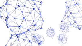Абстрактные фиолетовые развевая решетка 3D или сетка пульсируя геометрических объектов Польза как абстрактная футуристическая пре иллюстрация вектора