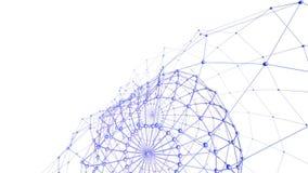 Абстрактные фиолетовые развевая решетка 3D или сетка пульсируя геометрических объектов Польза как абстрактная предпосылка Фиолето иллюстрация штока