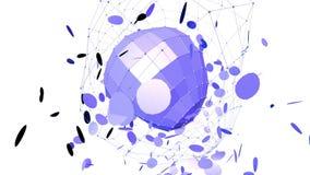 Абстрактные фиолетовые развевая решетка 3D или сетка пульсируя геометрических объектов Польза как предпосылка абстрактных fantas  иллюстрация штока